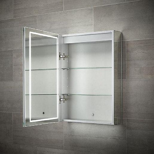 Wickes Adelaide Diffused LED Single Door Bathroom Mirror
