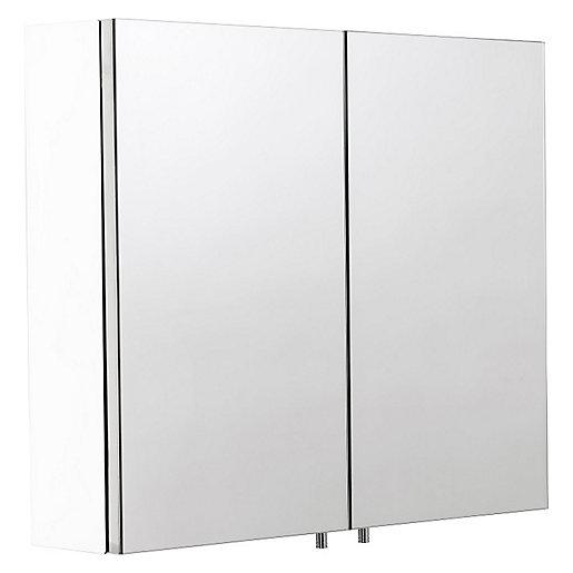 Wickes Dawley Folded White Steel Double Door Bathroom