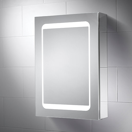 Wickes Earth Led Mirror Cabinet With, Light Up Bathroom Mirror Cupboard