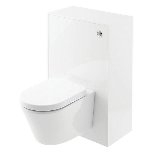 Wickes Eli White Gloss Wall Hung Toilet Unit