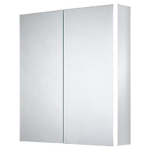 Wickes Grantham Bluetooth Led Double Door Bathroom Cabinet Wickes Co Uk