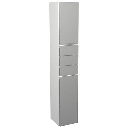 Wickes Hertford Dove Grey Multi-drawer Floorstanding Tall Tower