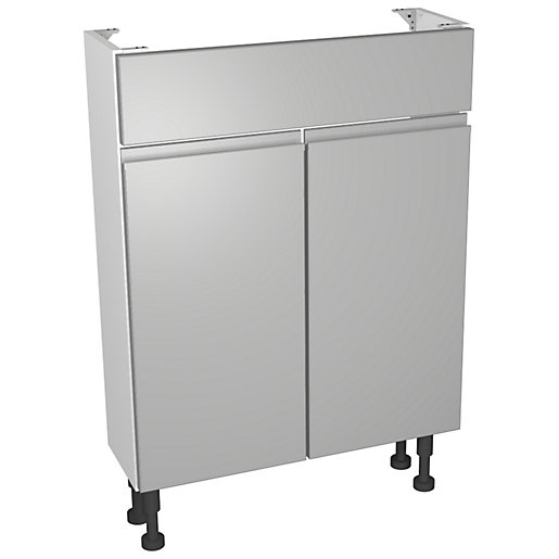 Wickes Hertford Gloss Grey Compact Vanity Unit -