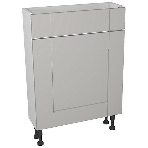 Wickes Vermont Grey On White Compact Floorstanding Toilet