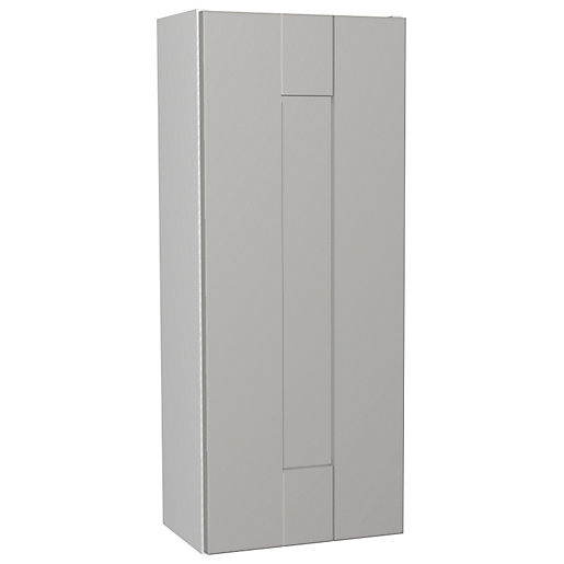 Wickes Vermont Grey On White Floorstanding Storage Unit