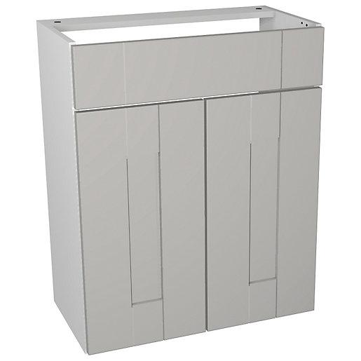 Wickes Vermont Grey Vanity Unit - 600 x