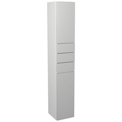 Wickes Vienna Grey Gloss Multi - Drawer Floorstanding