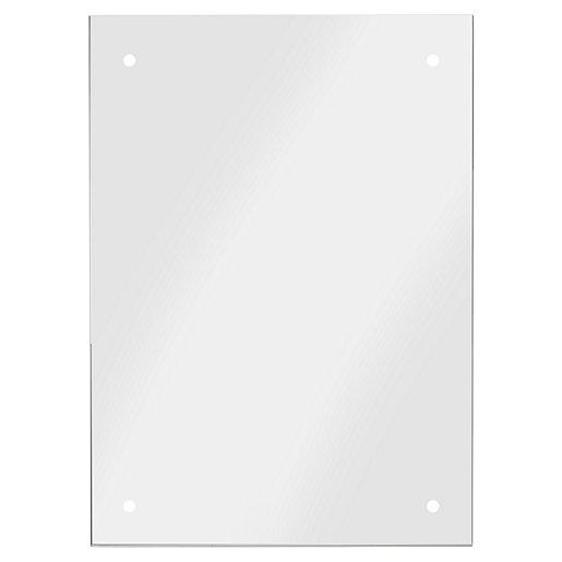 Croydex Large Basic Bathroom Mirror - Silver