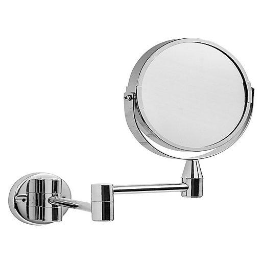 Croydex Small Round Magnifying Bathroom Mirror - Silver