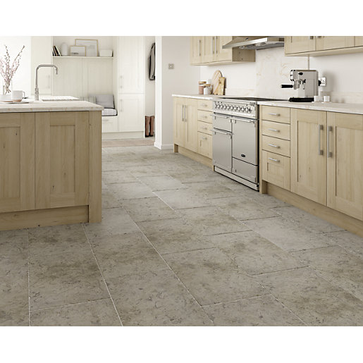 Boutique Kirkby Brown Tumbled Limestone Wall Floor Tile 700 X 400mm Wickes Co Uk