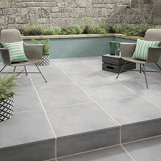Croyde Grey Outdoor Porcelain Floor, Outdoor Porcelain Tile