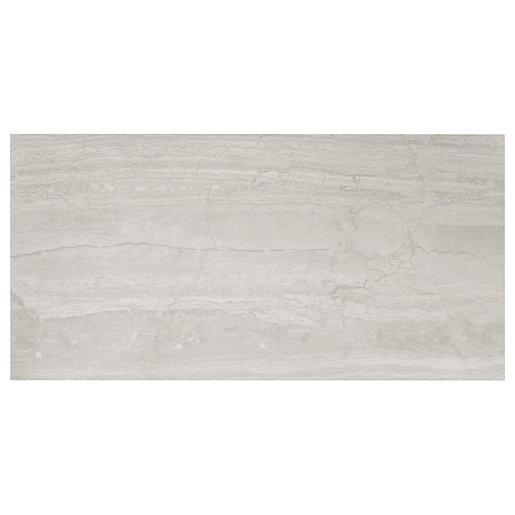 Wickes Olympia Grey Polished Stone Porcelain Wall &
