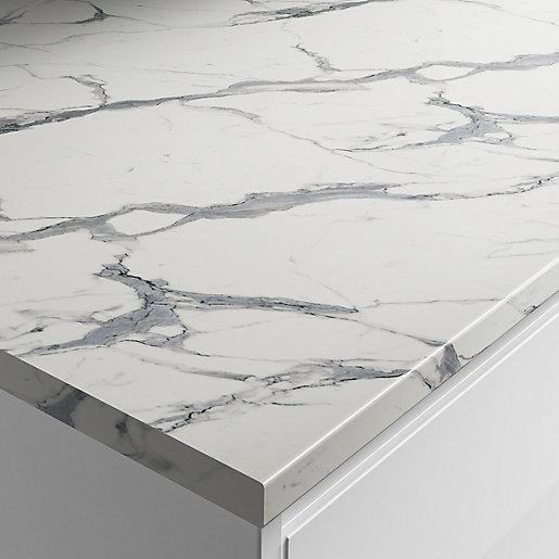 Wickes Marble Veneto Laminate Bathroom Worktop - 2m