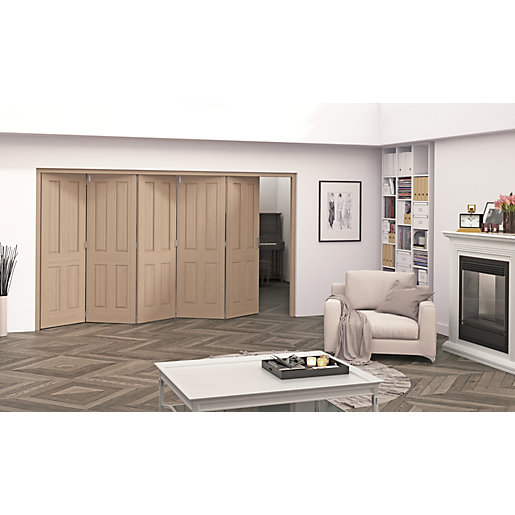 Jeld-Wen Cobham Oak 4 Panel Internal Bi-Fold 5