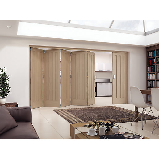 Jeld-Wen York Oak 3 Panel Internal Bi-Fold 6