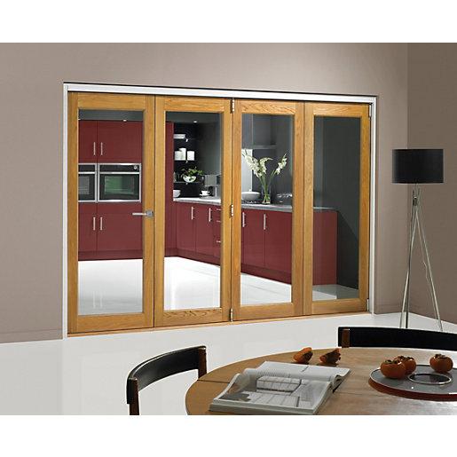 Wickes Belgrave Fully Glazed Oak 1 Lite Internal