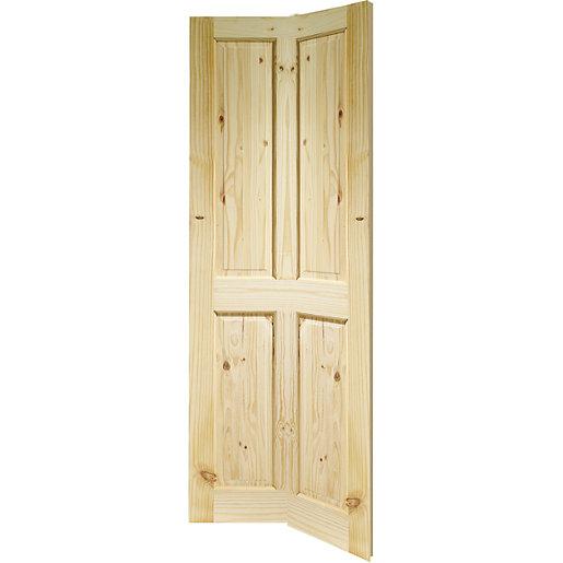 Wickes Chester Knotty Pine 4 Panel Internal Bi-Fold