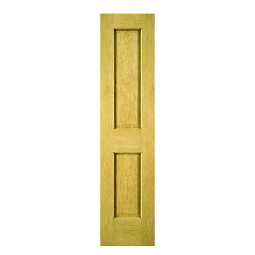 Wickes Cobham Oak 2 Panel Internal Cupboard Door