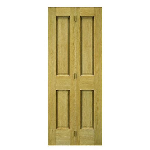 Wickes Cobham Oak 4 Panel Internal Bi-fold Door