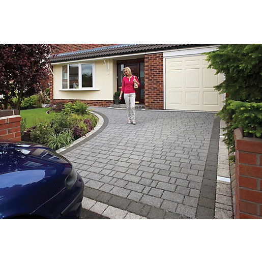 Marshalls Argent Priora Driveway Textured Block Paving Pack