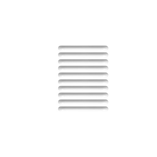 Wickes Pull Door Handle - White Plastic 105mm