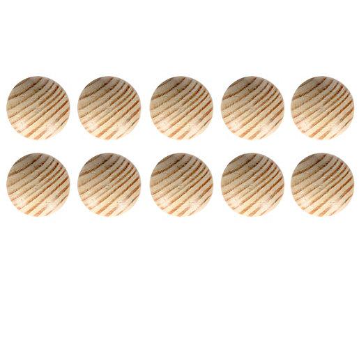 Wickes Unvarnished Ring Door Knob - Beech 35mm