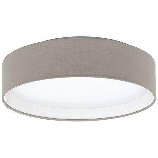 Eglo Pasteri LED Taupe Ceiling Light - 11W