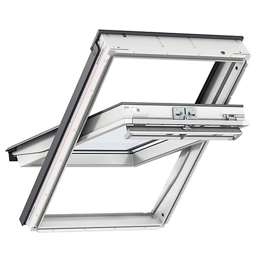 VELUX White Polyurethane Centre Pivot Roof Window -