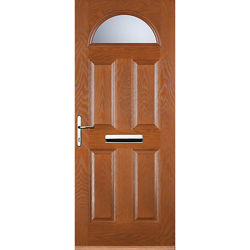 Euramax 4 Panel 1 Arch Oak Right Hand