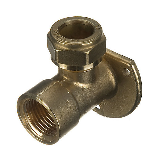 Wickes Brass Compression Wall Plate Elbow - 12