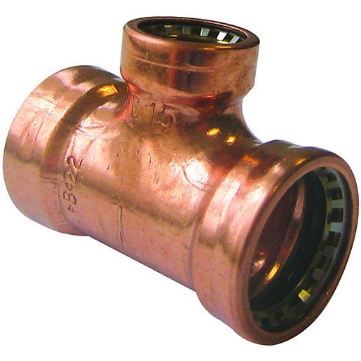 Primaflow Copper Pushfit Reducing Tee - 22 X