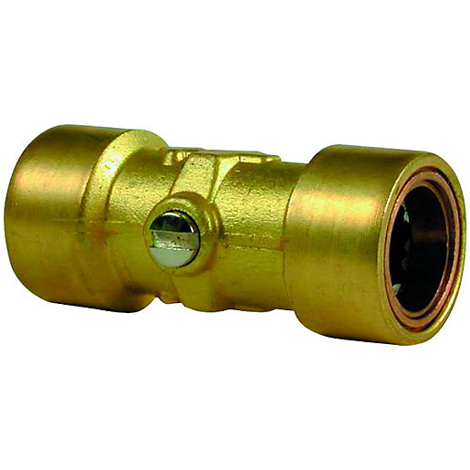 Wickes Copper Pushfit Service Valve - 15mm Pack