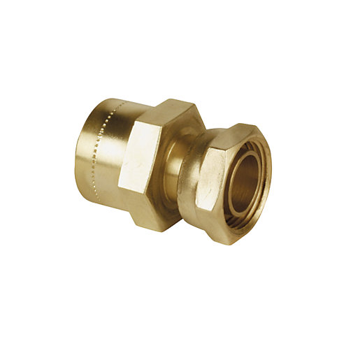 Wickes Copper Pushfit Tap Connector - 1/2in x