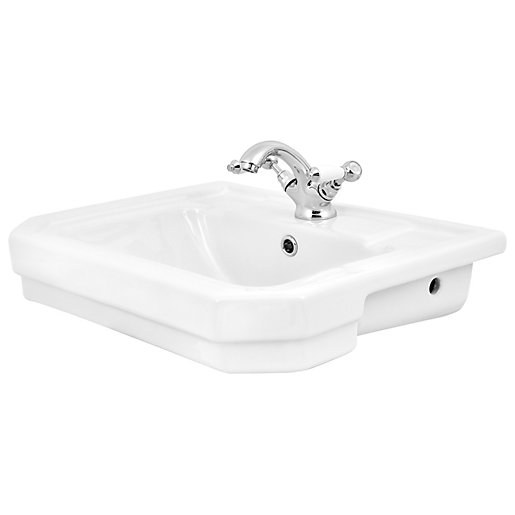 Wickes Oxford Traditional 1 Tap Hole Semi Recessed