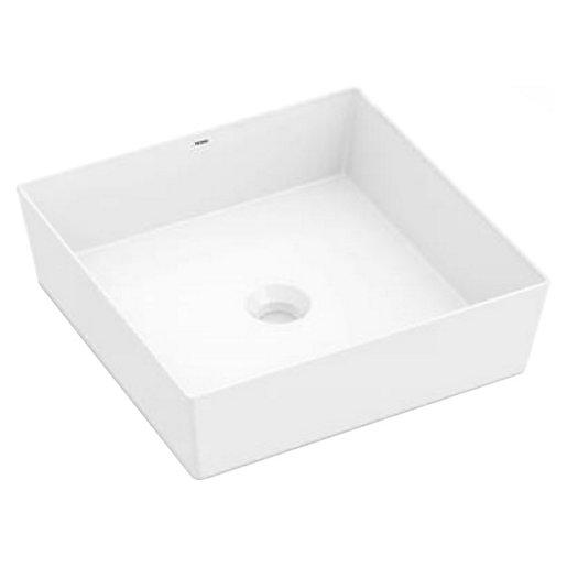 Wickes Platinum Square Countertop Bathroom Basin - 380mm