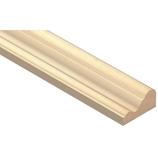 Wickes Pine D-shape Moulding - 29mm x 15mm