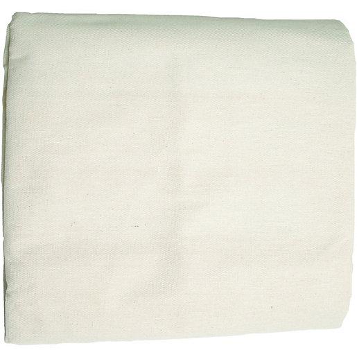 Wickes Cotton & Polythene Double Sided Dust Sheet