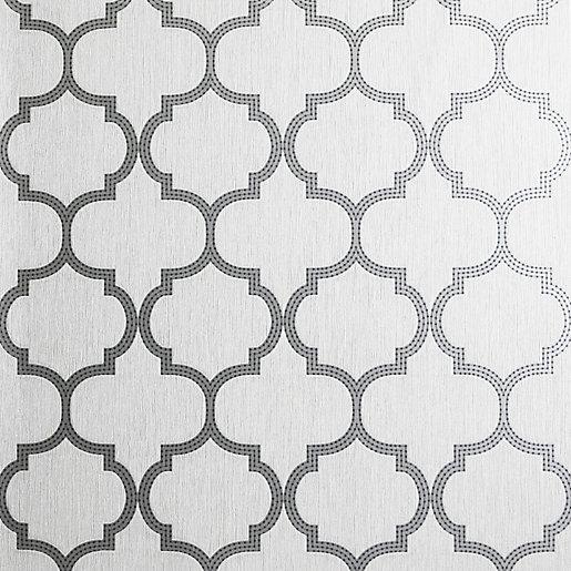 Arthouse Beaded Trellis Grey Wallpaper 10.05m x 53cm
