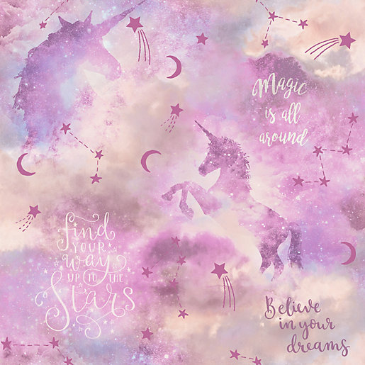 Arthouse Galaxy Unicorn Blush Multi Wallpaper 10.05m x