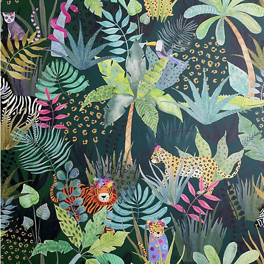 Arthouse Hidden Jungle Emerald Wallpaper 10.05m x 53cm