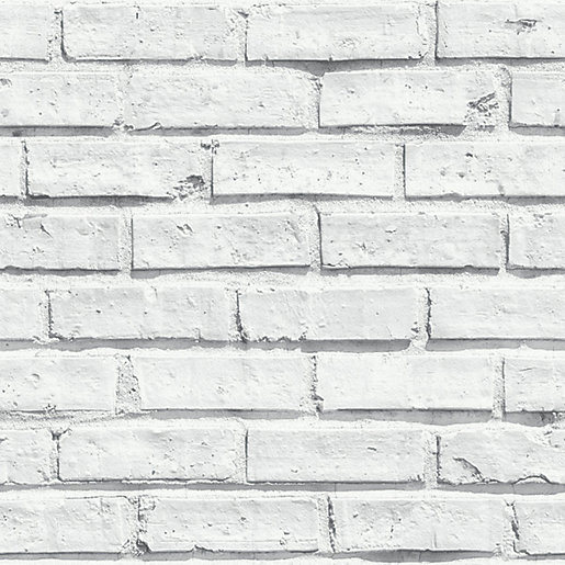 Arthouse White Brick Wallpaper 10.05m x 53cm