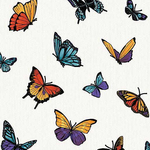 Julien Macdonald Flutterby Butterfly Decorative Wallpaper - 10m