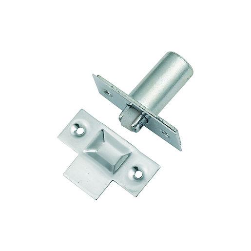 Wickes Adjustable Roller Door Catch Chrome Wickes Co Uk