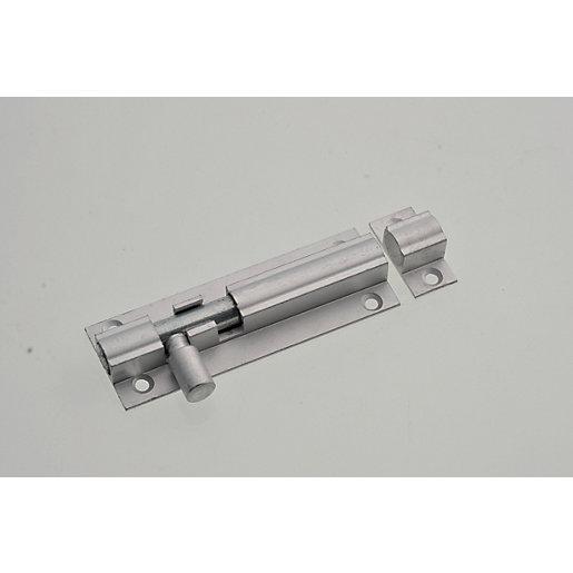 Wickes Barrel Bolt - Satin Aluminium 75mm