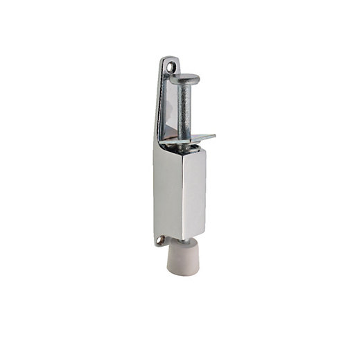 Wickes Door Holder Foot Operated - Chrome 130mm