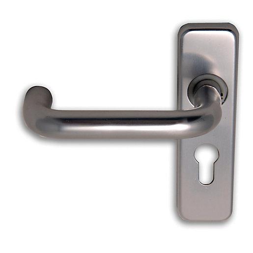 4FireDoors Roundbar Euro Profile Lock Lever Door Handle