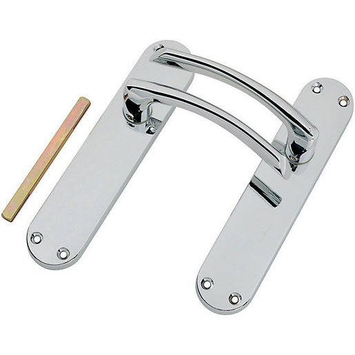 Wickes Dante Latch Door Handle - Polished Chrome