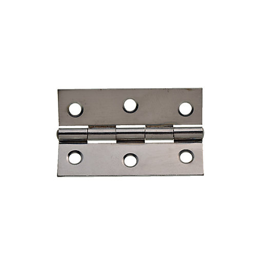 Wickes Butt Hinge - Chrome 76mm Pack of