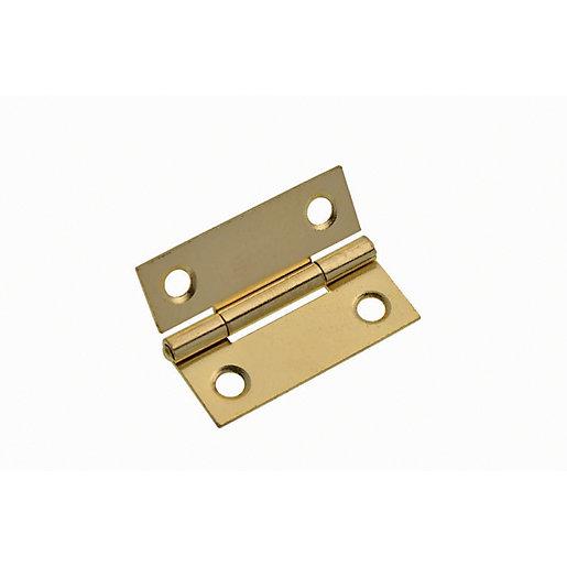 Wickes Easy Hang Hinge - Brass 51mm Pack