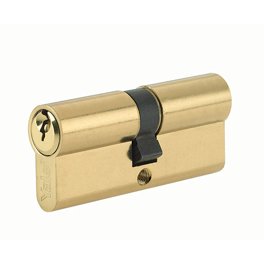 Yale P-ED3040-PN Euro Profile Cylinder Lock - Brass